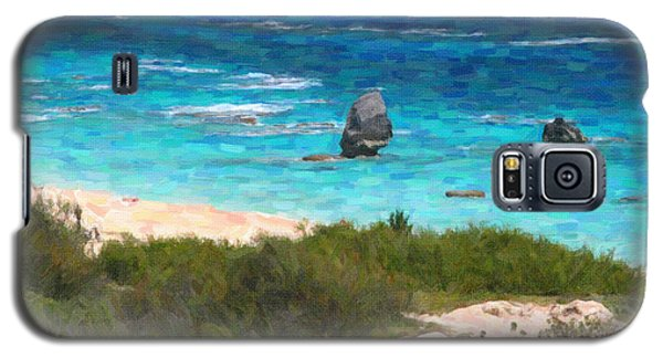 Galaxy S5 Case featuring the photograph Turquoise Ocean And Pink Beach by Verena Matthew