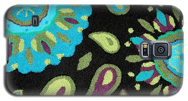 Galaxy S5 Case featuring the photograph Tapestry Turquoise Rug by Janette Boyd