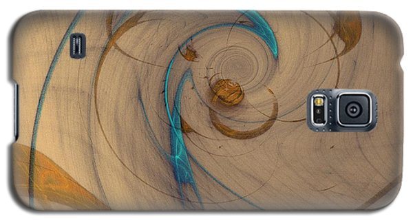 Turquoise Spiral Galaxy S5 Case by David Jenkins