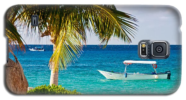 Turquoise Waters In Cozumel Galaxy S5 Case by Mitchell R Grosky