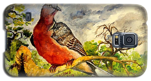Galaxy S5 Case featuring the painting Turtle - Dove by Jason Sentuf