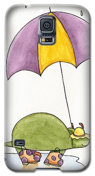 Turtle In The Rain Galaxy S5 Case by Christy Beckwith