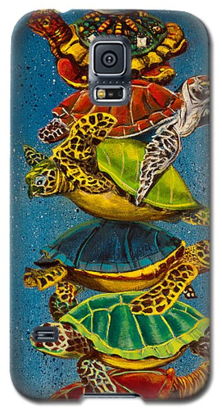Turtles All The Way Down Galaxy S5 Case by Susan Culver