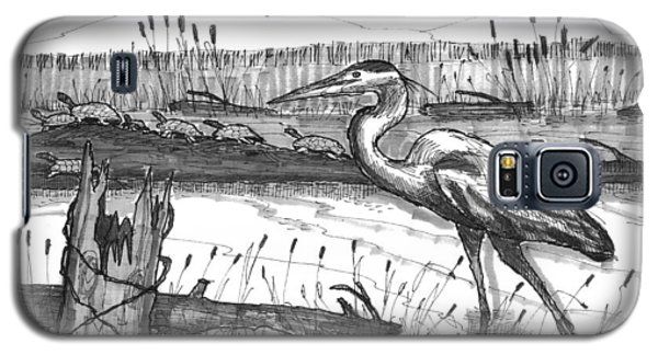 Turtles And Heron Galaxy S5 Case
