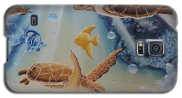 Turtles At Sea #2 Galaxy S5 Case by Dianna Lewis