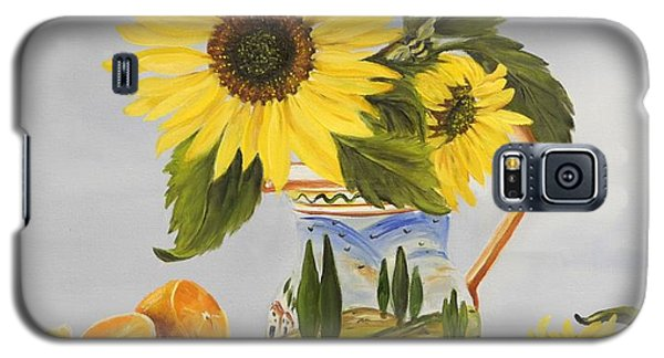 Tuscan Pitcher And Sunflowers Galaxy S5 Case by Carol Sweetwood