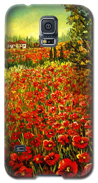 Tuscan Poppies Galaxy S5 Case by Lou Ann Bagnall