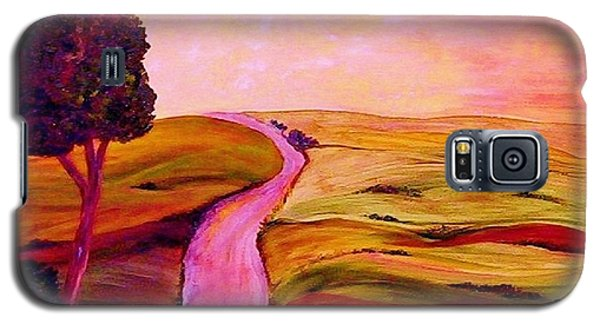 Galaxy S5 Case featuring the painting Tuscan Skies ... An Impressionist View by Eloise Schneider