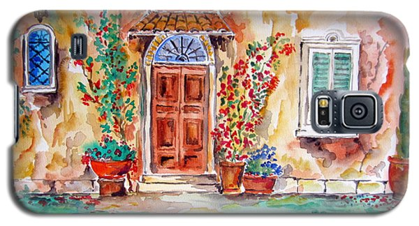 Tuscan Villa Door Water Color Galaxy S5 Case by Roberto Gagliardi