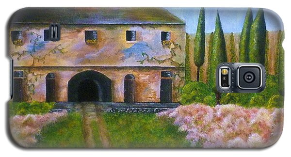Galaxy S5 Case featuring the painting Tuscan Villa by Tamyra Crossley