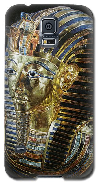 Galaxy S5 Case featuring the painting Tutankamon's Golden Mask by Leena Pekkalainen