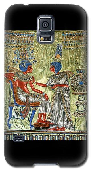 Galaxy S5 Case featuring the painting Tutankhamon's Throne by Leena Pekkalainen