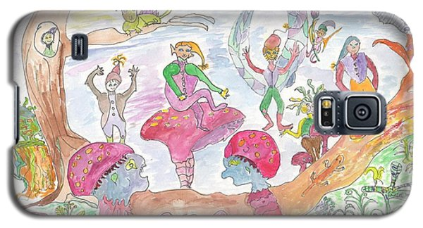 Galaxy S5 Case featuring the painting Twilight Faery Glen by Helen Holden-Gladsky