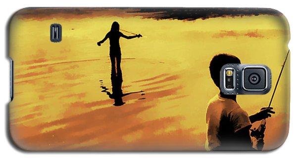 Galaxy S5 Case featuring the photograph Twilight Fishing by John Hansen