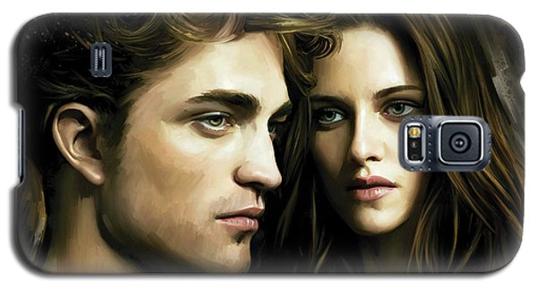 Galaxy S5 Case featuring the painting Twilight  Kristen Stewart And Robert Pattinson Artwork 4 by Sheraz A
