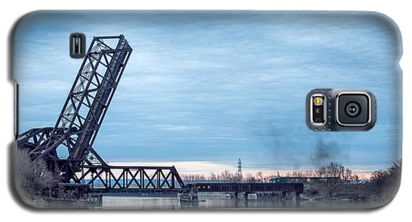Twilight Locomotive Crossing Buffalo River Galaxy S5 Case