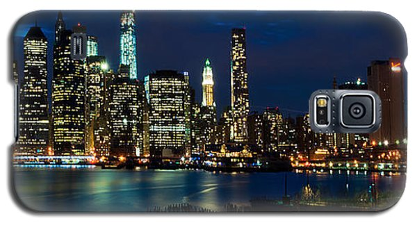 Twilight Nyc Panorama Galaxy S5 Case by Mitchell R Grosky