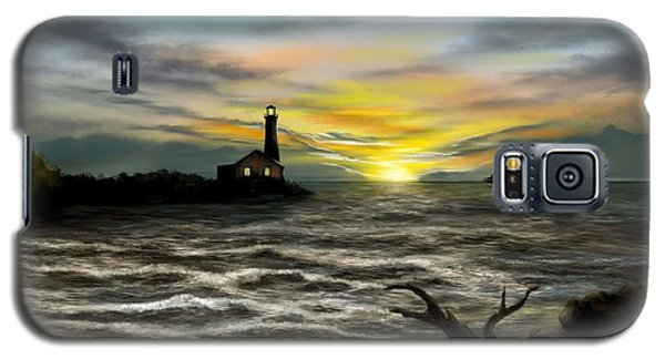 Twilight On The Sea Galaxy S5 Case by Ron Grafe