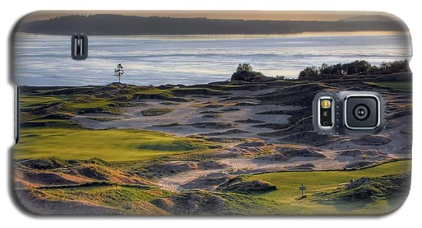Galaxy S5 Case featuring the photograph Twilight Paradise - Chambers Bay Golf Course by Chris Anderson