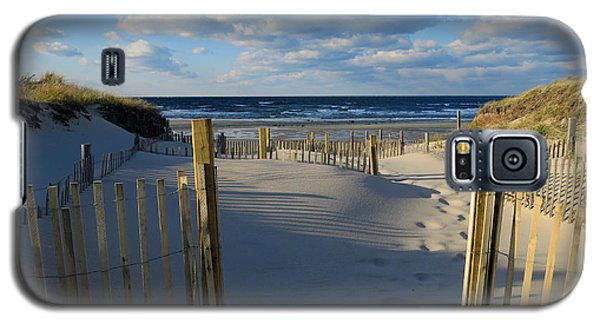 Galaxy S5 Case featuring the photograph Golden Hour Beach by Dianne Cowen