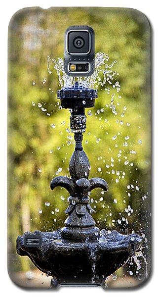 Twin Oaks Garden Fountain Galaxy S5 Case