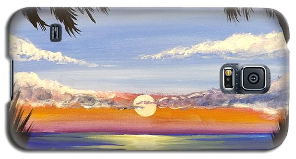 Galaxy S5 Case featuring the painting Twin Palms by Darren Robinson