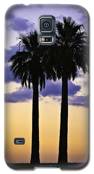 Galaxy S5 Case featuring the photograph Twin Palms by Sherri Meyer