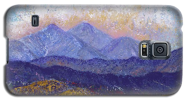 Galaxy S5 Case featuring the painting Twin Peaks Above The Fruited Plain by Margaret Bobb