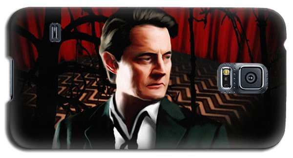 Galaxy S5 Case featuring the painting Twin Peaks  Dale Cooper by Jeff DOttavio