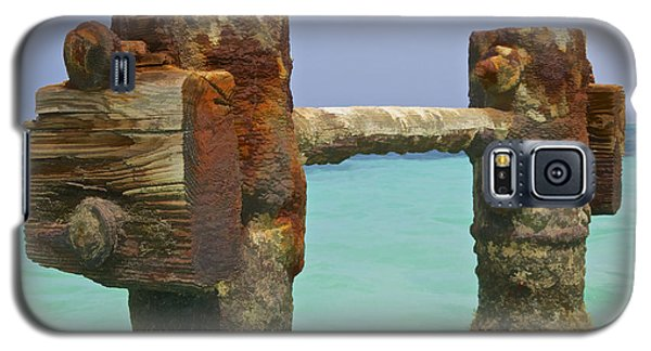 Twin Rusted Dock Piers Of The Caribbean Galaxy S5 Case