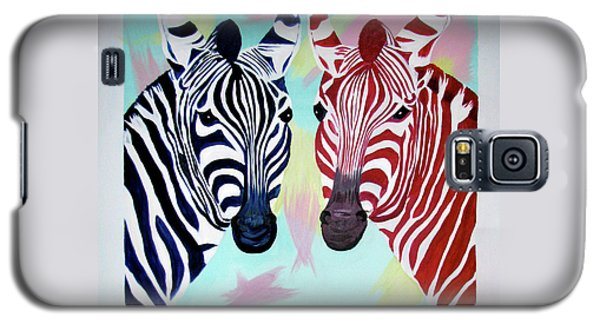 Galaxy S5 Case featuring the painting Twin Zs by Phyllis Kaltenbach