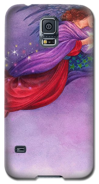 Galaxy S5 Case featuring the painting Twinkling Angel by Judith Cheng