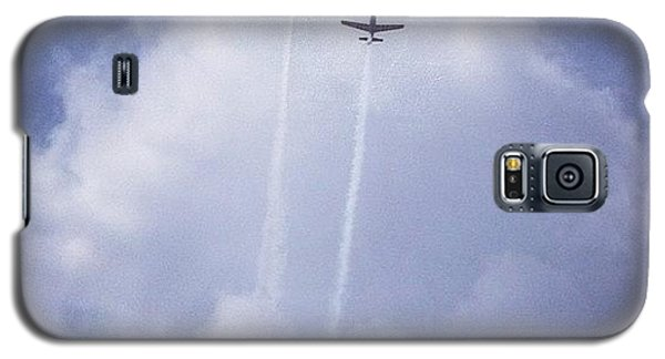 Sky Galaxy S5 Case - Two Airplanes Flying by Christy Beckwith