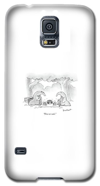 Ant Galaxy S5 Case - Two Anteaters On A Picnic Wait For Ants To Come by David Borchart