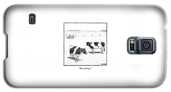 Two Spotted Cows Looking At A Jersey Cow Galaxy S5 Case