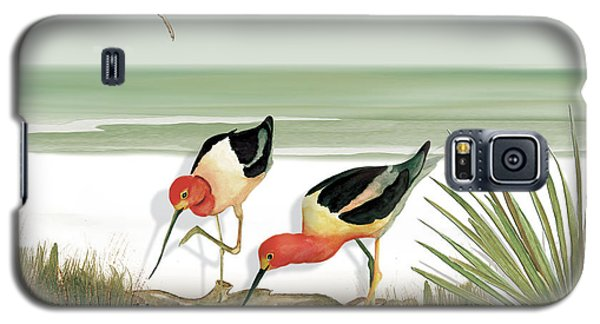 Galaxy S5 Case featuring the painting Two Avocets by Anne Beverley-Stamps