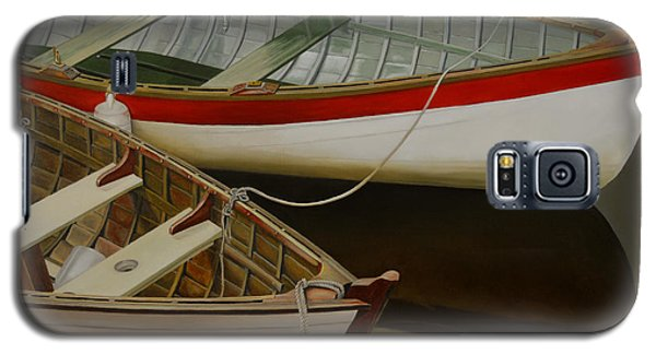 Galaxy S5 Case featuring the painting Two Boats by Thu Nguyen