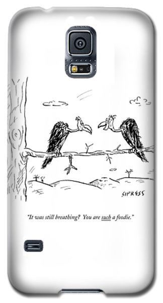 Two Buzzards Sit And Talk On A Branch Galaxy S5 Case