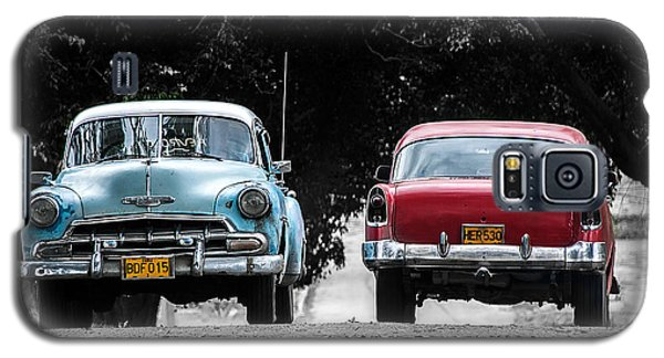 Two Cars Passing Galaxy S5 Case by Patrick Boening