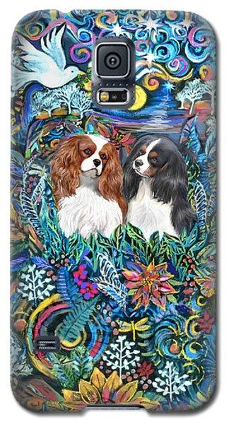 Two Cavaliers In A Garden Galaxy S5 Case
