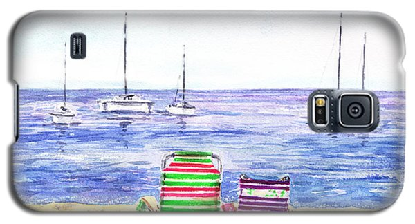 Two Chairs On The Beach Galaxy S5 Case
