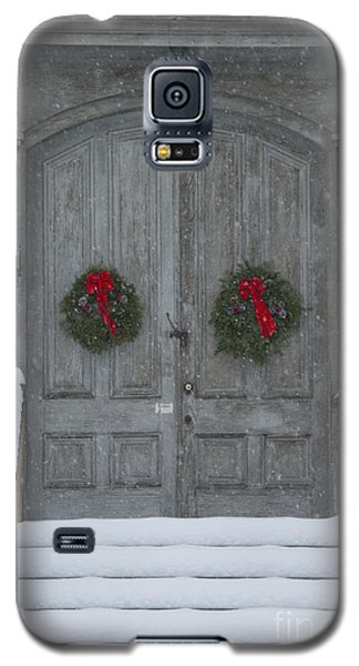 Two Christmas Wreaths Galaxy S5 Case by Alana Ranney