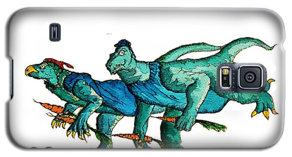 Two Dinos On The Run  Galaxy S5 Case