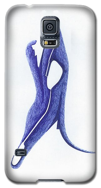 Galaxy S5 Case featuring the drawing Two Faced by Giuseppe Epifani