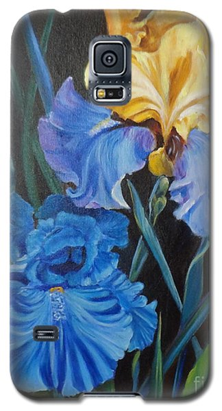 Galaxy S5 Case featuring the painting Two Fancy Iris by Jenny Lee