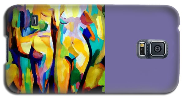 Galaxy S5 Case featuring the painting Two Nudes by Helena Wierzbicki