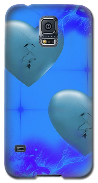 Galaxy S5 Case featuring the digital art Two Hearts Together On Valentine's Day  by Angel Jesus De la Fuente