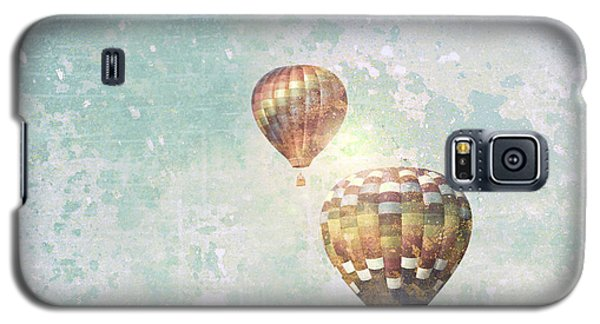 Galaxy S5 Case featuring the photograph Two Hot Air Balloons by Brooke T Ryan
