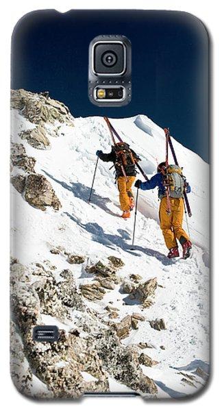 Sangre De Cristo Galaxy S5 Case - Two Men Backcountry Skiing Hike by Jen Judge