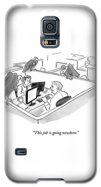 Two Men In A Small Cubicle Speak To Each Other Galaxy S5 Case